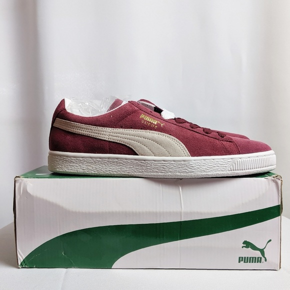 new style eb31b 74567 Men's Suede Classic Cabernet and White Gold Pumas NWT